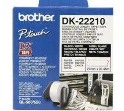 Fita BROTHER DK22210 Branca 29MM