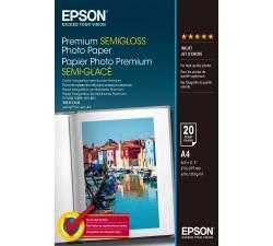 Papel EPSON Foto.Semi-Brilhante Premium A4 (20F.) C13S041332