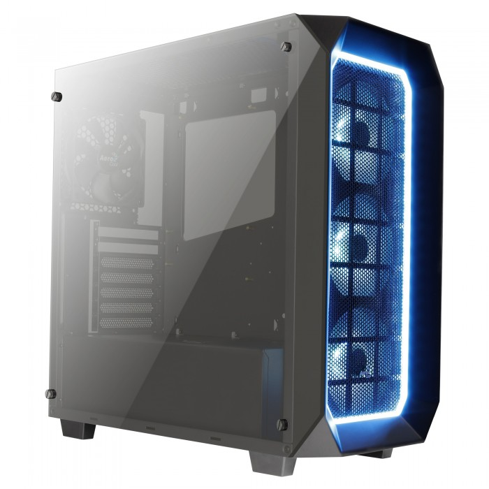 Caixa AEROCOOL PROJECT 7 ATX 1XRGB HUB, DOUBLE SIDED TEMPERED GLASS WINDOW, USB3.0 - P7C0PRO