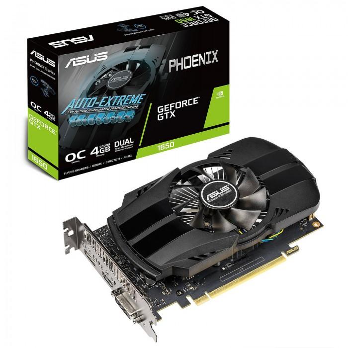 VGA ASUS GTX1650 Phoenix OC 4GB GDDR5, DVI/HDMI/DP