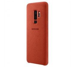 Capa SAMSUNG Galaxy S9+ Alcântara Cover Vermelho - EF-XG965AREGWW