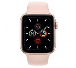 Apple Watch Series 5 GPS, 44mm Gold Aluminium Case c/ Pink Sand Sport Band