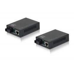 Conversor Media LEVEL ONE RJ45 para SC BIDI Fast Ethernet, Single-Mode Fiber, 20km - FVT-2202