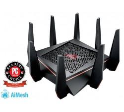 Router ASUS Wir. Tri-Band AC5300+8XGigabit+2XUSB 3.0+3G/4G - ROG RAPTURE GT-AC5300