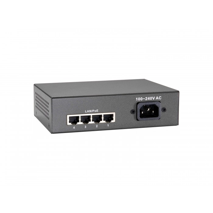Switch LEVEL ONE 5-Port Fast Ethernet PoE, 802.3at PoE+, 4 PoE Outputs, 90W - FEP-0511W90