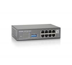 Switch LEVEL ONE 8-Port Fast Ethernet PoE, 65W - FEP-0800W65