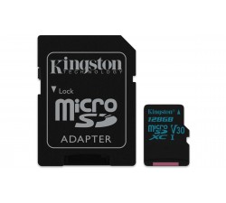 MicroSD Kingston Canvas Go 128GB class10 UHS-I U3 v30 SDHC/SDXC (90MB/s-45MB/s)