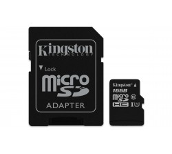 MicroSD Kingston Canvas Select SDCS 16GB class10 UHS-I SDHC(80MB/s-10MB/s)