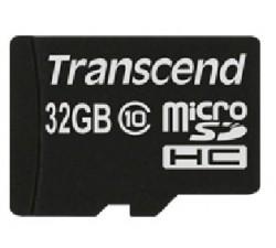 Micro SD TRANSCEND 32GB Class10 c/ adapt SD - TS32GUSDHC10