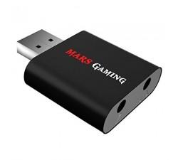 Adaptador MARS GAMING Jack para USB 7.1 SOUNDCARD, Black - MSC1