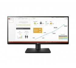 Monitor LG LED 29P FHD IPS Plano sRGB 2HDMI/DVI-D/DP/USB Ajustavél altura/rotação - 29UB67-B