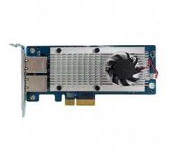 QNAP Dual-port 10G base-T network expansion card for tower and rackmount models, desktop brackets