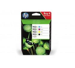 Pack 4 Tinteiros HP 953XL Preto/Cyan/Magenta/Amarelo de Elevado Rendimento