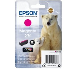 Tinteiro EPSON Magenta Serie 26  XP-600/700/800 (c/alarme RF+AM) - C13T26134022