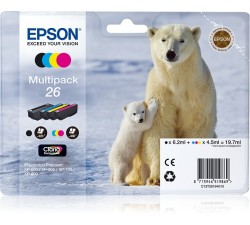 Pack Tint EPSON Quad XP-600/700/800 C13T26164020