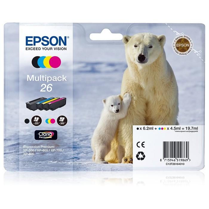 Pack Tint EPSON Quad XP-600/700/800 C13T26164020
