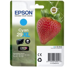 Tinteiro EPSON Serie 29XL Cyan XP-235/332/335/432/435 (c/alarme RF+AM) - C13T29924022