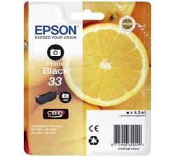 Tinteiro EPSON Serie 33 Preto Photo XP-530/630/635/830 (c/alarme RF+AM) - C13T33414022
