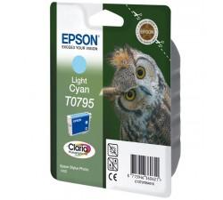 Tinteiro EPSON Photo P50/PX650/700/800/1400 Cyan Claro T0795